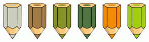 Color Scheme with #CCCFBC #A37B45 #86942A #507642 #F28C04 #A1CE0C