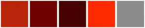 Color Scheme with #B8250B #6E0000 #470000 #FF2A00 #8C8C8C