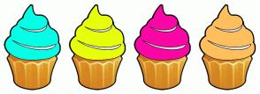 Color Scheme with #05FFE6 #E7FF0A #FA07A5 #FFBF5E