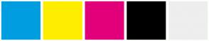 Color Scheme with #009EE0 #FFED00 #E2007A #000000 #EEEEEE