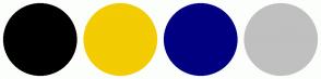 Color Scheme with #000000 #F3CC02 #010080 #C0C0C0