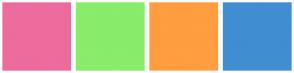 Color Scheme with #EE6B9E #89EC6A #FF9D40 #408DD2