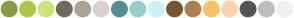 Color Scheme with #899C40 #ADC743 #CCE472 #706962 #ACA298 #D8D3CF #4F9192 #95CFCC #CCF1F5 #755431 #B07F4A #FCC065 #FFD3AA #555353 #BEBEBE #F0F0F0