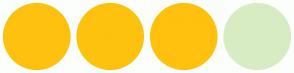 Color Scheme with #FFC10F #FDC20E #FFC10E #D8ECC3