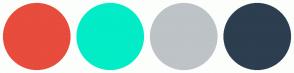 Color Scheme with #E74C3C #02ECC7 #BDC3C7 #2C3E50