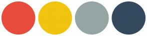 Color Scheme with #E74C3C #F1C40F #95A5A6 #34495E