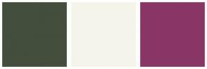 Color Scheme with #434E3C #F5F4EB #893667