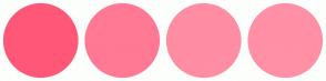 Color Scheme with #FF5778 #FF7994 #FF8DA3 #FF90A6