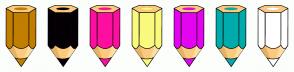 Color Scheme with #C27E00 #050005 #FF0F9F #FAFA7F #E405F0 #00ABAB #FFFFFF