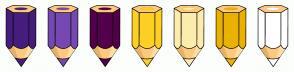 Color Scheme with #461D7C #7549B1 #53004B #FDD023 #FCECAE #E9B200 #FFFFFF