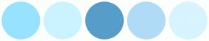 Color Scheme with #97E3FF #CAF3FF #579DCA #B0DBF7 #D7F4FF