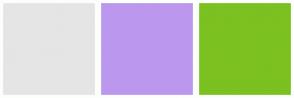Color Scheme with #E5E5E5 #BB98EE #7BC120
