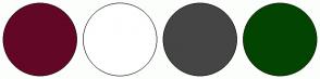 Color Scheme with #630727 #FFFFFF #454545 #034500