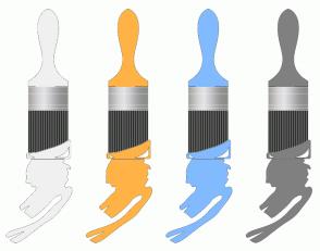 Color Scheme with #F0F0F0 #FFB347 #82BAFF #808080