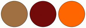 Color Scheme with #A17040 #730B0B #FF6600