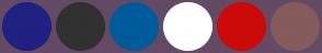 Color Scheme with #202181 #313131 #005B9A #FFFFFF #CD0A0A #855B5B