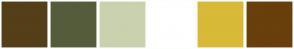 Color Scheme with #543F18 #555C3B #CAD1AE #FFFFFF #D9B938 #693F0C