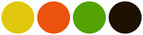 Color Scheme with #E1C80C #EC530E #53A304 #1E1102