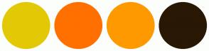 Color Scheme with #E3C905 #FF7000 #FF9900 #291804