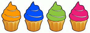 Color Scheme with #FF9900 #0051FF #8CC63F #ED1E79