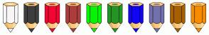 Color Scheme with #F8F6F6 #3E3E3E #F40633 #AC3D3D #06F406 #249624 #1106F4 #7370AE #A66000 #F88C00
