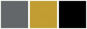 Color Scheme with #646769 #C19D32 #000000