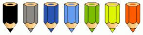 Color Scheme with #000000 #8C8984 #2956B2 #659CEF #7DBD00 #DCF600 #FF5B00