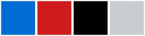 Color Scheme with #006DD5 #CF1B1B #010101 #C9CCD1