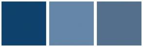 Color Scheme with #0E426C #6586A7 #546F8B