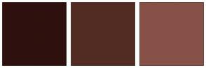 Color Scheme with #2E110E #522C22 #875148