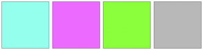 Color Scheme with #95FFED #EC6BFF #8CFF3C #B8B8B8