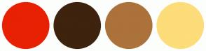 Color Scheme with #E82103 #3E230E #AC723B #FDDC7A