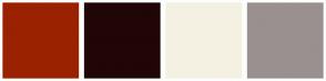 Color Scheme with #9A2200 #200606 #F4F1E3 #9A9090