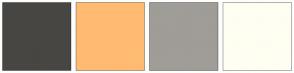 Color Scheme with #474643 #FFBB72 #A09C97 #FFFEF2
