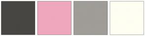 Color Scheme with #474643 #EFA7BE #A09C97 #FFFEF2