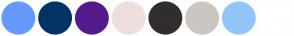 Color Scheme with #6699FF #003366 #551A8B #F0DDDD #312E2D #CAC6C0 #91C5F7 #FFFFFF