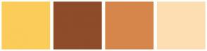Color Scheme with #FBCC59 #8E4C2A #D6864A #FDDEB3