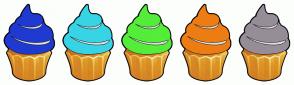 Color Scheme with #1F3AD1 #37D4E6 #54ED39 #ED7D13 #968D99