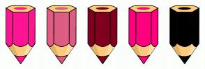 Color Scheme with #FF1493 #DE5D83 #800020 #FF007F #000000