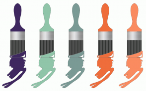 Color Scheme with #3F2860 #90C5A9 #7A9A95 #EF6D3B #FA8B60