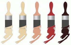 Color Scheme with #EDDAB6 #E8D1A4 #DDA185 #AB3334 #331919