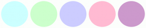 Color Scheme with #CCFFFF #CCFFCC #CCCCFF #FFBAD2 #CC99CC