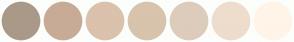 Color Scheme with #AA9988 #C8AB96 #DAC2AD #D8C3AD #DDCCBB #EEDDCC #FFF4E8