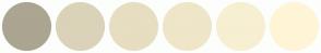 Color Scheme with #ABA591 #DAD3B9 #E7DDC1 #EFE5C8 #F7EFD2 #FFF5D6