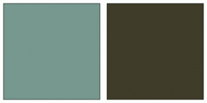 Color Scheme with #76988F #3F3C29