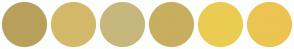 Color Scheme with #B8A15C #D4B96A #C7B77D #C7AF5F #EBCC52 #EBC452