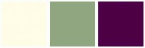Color Scheme with #FFFCE8 #90A681 #4D0045