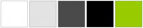 Color Scheme with #FFFFFF #E3E3E3 #4A4A4A #000000 #99CC00