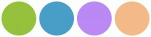 Color Scheme with #96C13C #489EC7 #BA89F3 #F3BA89
