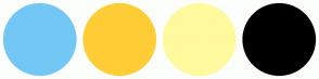 Color Scheme with #73C7F5 #FFCD36 #FFFA9E #000000